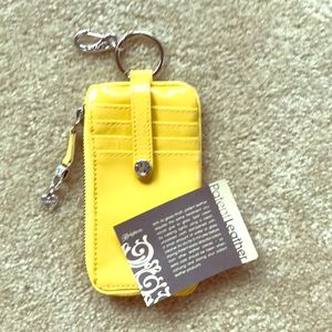 Brighton Sunshine Patent Leather Card Wallet